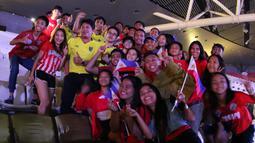 Suasana kemeriahan saat upacara pembukaan SEA Games 2019 di Philipine Arena Bulacan, Manila, Sabtu (30/11). Pesta olahraga se-Asia Tenggara ini akan berlangsung hingga 11 Desember. (Bola.com/M Iqbal Ichsan)