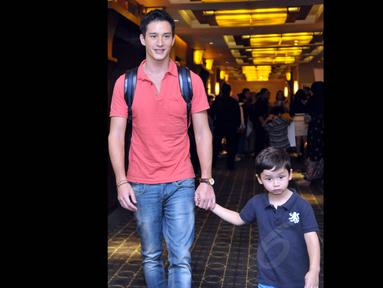 Ditemui di Plaza Senayan, Jakarta, Mike Lewis kembali terlibat dalam sebuah  film anak-anak, Senin (4/8/14). (Liputan6.com/Panji Diksana)
