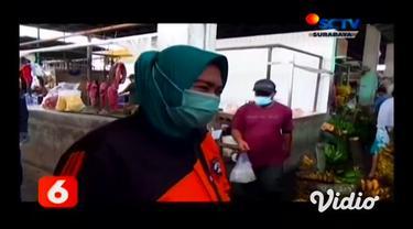 Jelang bulan puasa Ramadhan, harga daging ayam di Pasar Pucang Surabaya mulai merangkak naik sejak awal April 2021. Harga daging ayam naik Rp 2.000 hingga Rp 3.000 per kilogramnya.