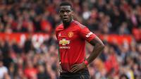 4. Paul Pogba - Pogba menjadi skuat Manchester United usai Setan Merah menggelontorkan dana sebesar 105 juta euro. (AFP/Paul ellis)