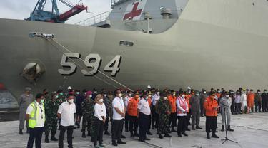 Konferensi Pers Penghentian SAR Sriwijaya Air SJ 182