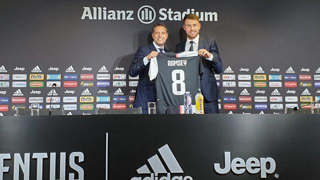 Gelandang Juventus, Aaron Ramsey.