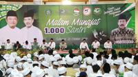 Acara malam munajat 1.000 santri di Sidoarjo, Jawa Timur. (Foto: Liputan6.com/Dian Kurniawan)