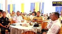 Dalam rangka mewujudkan peningkatan ekspor dan pengendalian impor di Pelabuhan Internasional Lampung, Bea Cukai, Pelindo dan Pemda Provinsi Lampung berkoordinasi