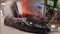 Lamborghini Aventador milik Raffi Ahmad terbakar (YouTube/ RansEntertainment)