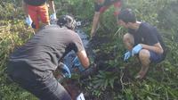 Lokasi penemuan kerangka manusia yang diduga tubuh sopir taksi online Palembang (dok.istimewa / Nefri Inge)