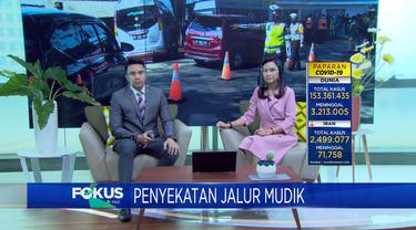 Fokus Pagi mengangkat beberapa topik berita di antaranya, Ricuh Penertiban PKL Tanah Abang, Pencarian Korban Longsor, Penyekatan Jalur Mudik Lebaran.