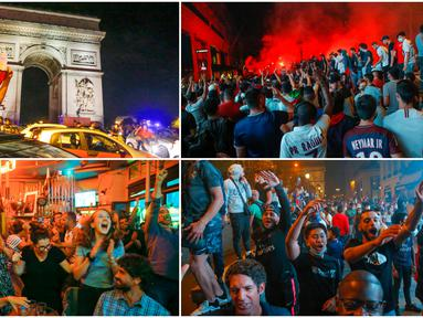 Ribuan warga kota Paris tumpah ruah di jalanan ibu kota. Mereka merayakan keberhasilan Paris Saint Germain melaju ke final Liga Champions untuk pertama kalinya sepanjang sejarah.