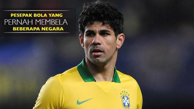 Berikut beberapa pesepak bola yang pernah membela negara, seperti Diego Costa yang membela Brasil dan Spanyol