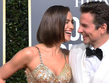 Irina Shayk dan Bradley Cooper  Umbar Kemesraan di Golden Globe Awards