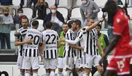 Juventus meraih kemenangan 3-2 atas Sampdoria pada laga pekan keenam Serie A 2021/2022 yang digelar di Juventus Stadium, Minggu (26/9/2021) petang WIB. (AFP/Alberto Pizzoli)