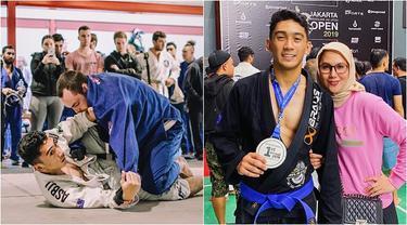 7 Pesona Daffa Wardhana saat Latihan Brazilian Jiu Jitsu Ini Curi Perhatian