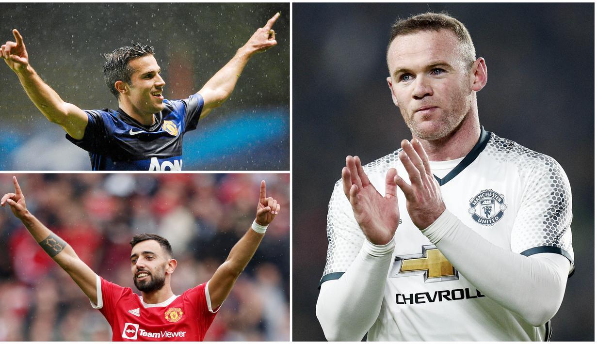 Bruno Fernandes menjadi bintang kemenangan Manchester United usai memborong tiga gol  saat membungkam Leeds United pada laga perdana Liga Inggris musim 2021/2022. Berikut ini 5 pemain terakhir yang berhasil menorehkan hattrick bagi Setan Merah.