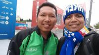 Harie Pandiono di Piala Dunia Rusia, bertemu driver ojol. (Dokumen Pribadi)