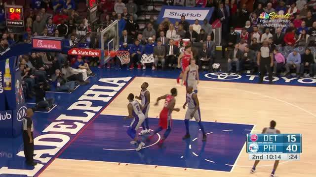 Berita video game recap NBA 2017-2018 antara Philadelphia 76ers melawan Detroit Pistons dengan skor 114-78.
