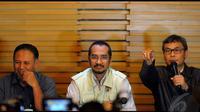 KPK menetapkan Yasin sebagai tersangka setelah melakukan pemeriksaan selama seharian, , Jakarta, Kamis (8/5/2014) (Liputan6.com/Faisal R Syam).