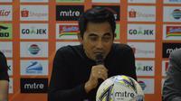 Pelatih PSS Sleman, Seto Nurdiyantoro saat press conference setelah pertandingan PSS Sleman Vs Persebaya, Sabtu (13/7/2019) di Stadion Maguwoharjo, Sleman Yogyakarta.