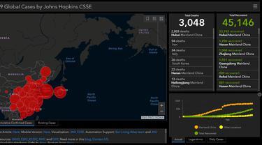 Indonesia berada di urutan ke-22 sebagai negara di Asia yang terpapar kasus Virus Corona COVID-19 (gisanddata.maps.arcgis.com)