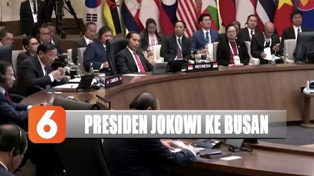 Presiden Jokowi ke Busan menghadiri acara ROK Commemorative Summit bahas evaluasi 30 tahun kerja sama Asean dengan Korea Selatan.