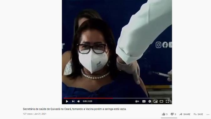 Cek Fakta Liputan6.com menelusuri klaim video suntik vaksin bohongan