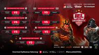 Live streaming playoff IEL University Super Series 2021 dapat disaksikan melalui platform streaming Vidio, laman Bola.com, dan Bola.net. (Dok. Vidio)