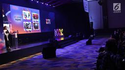 Suasana acara XYZ DAY 2018 di The Hall Senayan City, Jakarta, Rabu (25/4). XYZ Day diselenggarakan oleh KapanLagi Youniverse yang menghadirkan talkshow dari para konten kreator dan influencer hits. (Liputan6.com/Herman Zakharia)
