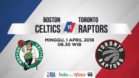 Jadwal NBA, Boston Celtics Vs Toronto Raptors. (Bola.com/Dody Iryawan)