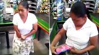 Seorang nenek tertangkap tangan mengutil dan menyembunyikan barang curiannya di dalam celana dalamnya