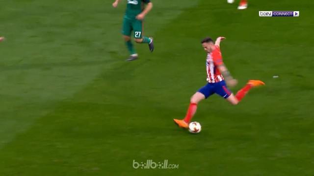 Atletico Madrid sukses memetik kemenangan 3-0 dalam pertandingan leg pertama 16 besar Liga Europa kontra Lokomotiv Moscow, Jumat (...