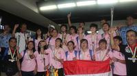 Jaya Kencana Angels setibanya di Indoensia langsung bersiap untuk panggilan timnas Indonesia. (Bola.com/Gerry Anugrah Putra)