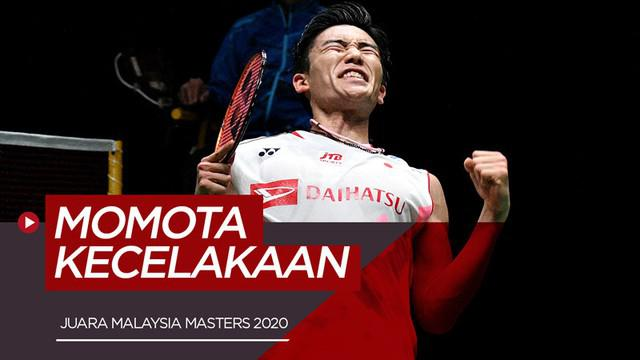 Berita video pemain badminton asal Jepang, Kento Momota, mengalami kecelakaan mobil setelah menjadi juara Malaysia Masters 2020 di nomor tunggal putra.