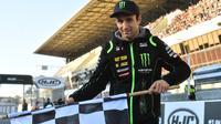 Pembalap Yamaha Tech 3, Johann Zarco akan memulai balapan MotoGP Prancis 2018 dari posisi terdepan. (JEAN-FRANCOIS MONIER / AFP)
