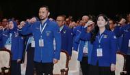 Agus Harimurti Yudhoyono (AHY) bersama istri Annisa Pohan menghadiri Kongres V Partai Demokrat di JCC, Jakarta, Minggu (15/3/2020). Agus Harimurti Yudhoyono (AHY) terpilih secara aklamasi sebagai Ketua Umum masa bakti 2020-2025 menggantikan Susilo Bambang Yudhoyono. (Liputan6.com/Dok Partai Demokrat
