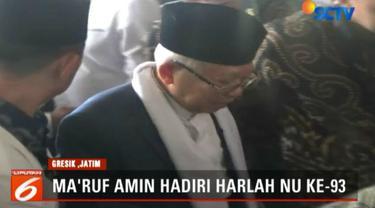 Di hadapan ribuan pendukungnya, Ma'ruf kembali menegaskan warga NU untuk memilih dan memenangkan paslon Jokowi-Ma'ruf dalam pilpres mendatang, karena kemenangan paslon 01 juga merupakan kemenangan bagi kaum Nahdliyin.