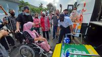 Acara soft launching layanan transportasi Bus Disabilitas DAMRI Mataram (02/10/20)