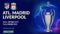 Liga Champions 2019-2020: Atletico Madrid vs Liverpool. (Bola.com/Dody Iryawan)