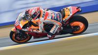 Marc Marquez rebut pole di MotoGP Prancis (JEAN-FRANCOIS MONIER / AFP)