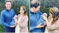 Putri Eugenie dan Jack Brooksbank bersama putra pertama mereka, August Philip Hawke Brooksbank. (dok. Instagram @princesseugenie)