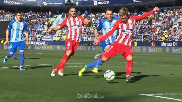 Berita video gol cepat 40 detik Antoine Griezmann saat Atletico Madrid menang 1-0 atas Malag. This video presented by BallBall.