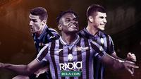 Pemain andalan Atalanta: Robin Gosens, Duvan Zapata dan Ruslan Malinovskyi. (Bola.com/Dody Iryawan)