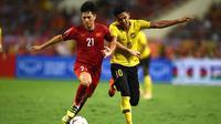Timnas Vietnam menang 2-0 atas Malaysia pada laga ketiga Grup A Piala AFF 2018, di My Dinh Stadium, Jumat (16/11/2018) malam WIB. (AFP/Manan Vatsyayan)
