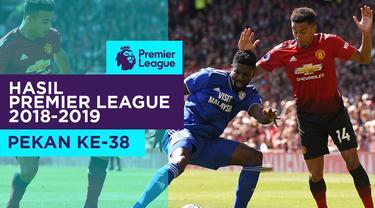 Berita video hasil Premier League 2018-2019pekan ke-38. Manchester City Juara, Manchester United kalah dari Cardiff City.