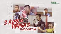 3 kiper timnas Indonesia. (Bola.com/Dody Iryawan)