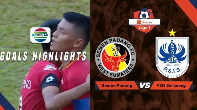 Berita video momen gol Semen Padang yang dramatis tercipta pada menit-menit akhir pertandingan saat mengalahkan PSIS Semarang dalam lanjutan Shopee Liga 1 2019, Jumat (16/8/2019).
