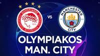 Liga Champions - Olympiakos Vs Manchester City (Bola.com/Adreanus Titus)
