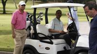 PM Malaysia main golf bareng Obama (The Malay Online)