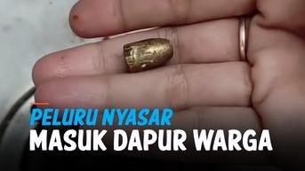 VIDEO: Peluru Nyasar Tembus Dapur Rumah Warga di Bandung