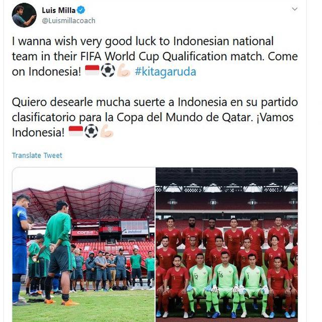 Eks pelatih timnas Indonesia, Luis Milla
