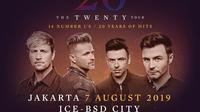 Poster konser Westlife (Instagram/ fullcolorparty)
