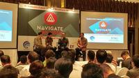 Menkominfo Rudiantara menjadi pembicara di Japan-Indonesia Innovation Meet Up Event di Jakarta, Selasa (12/9/2017). Liputan6.com/ Agustin Setyo Wardani